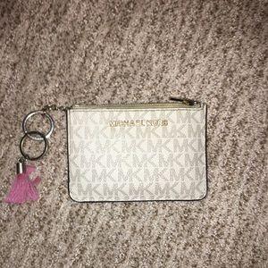 Michael Kors small pink wallet